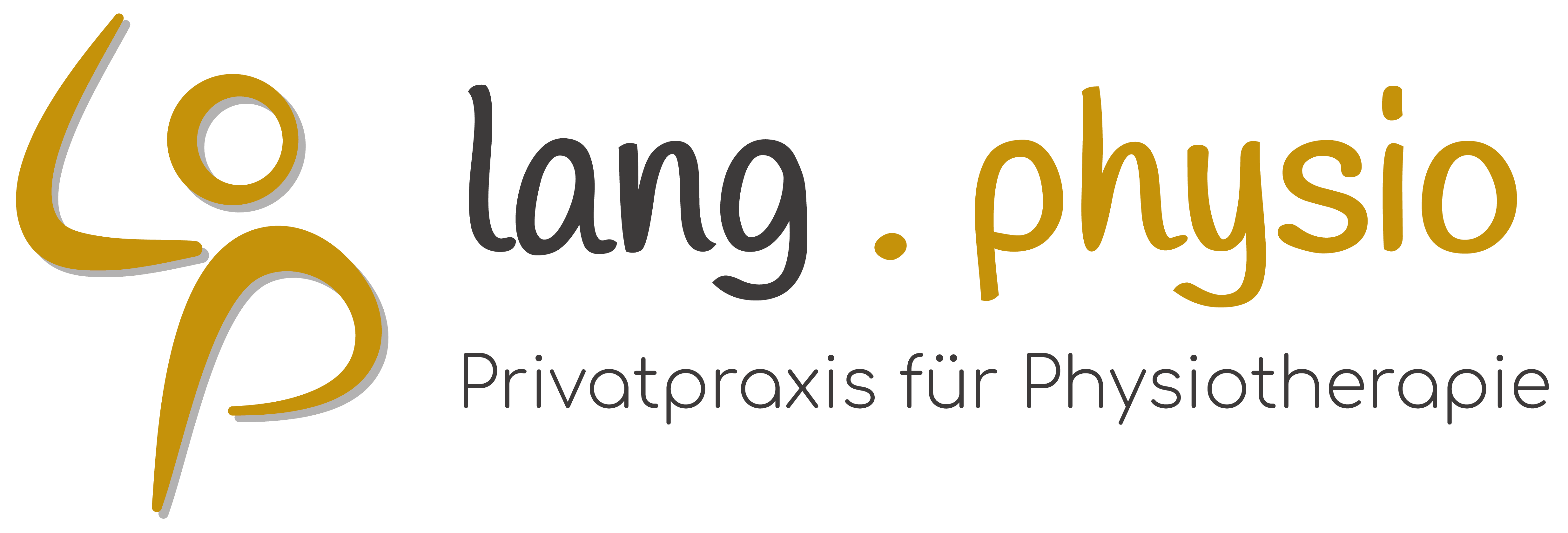 Physiotherapie Lang Rodgau Logo mit Text gold